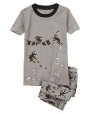 GYMBOREE SLEEPWEAR GRAY w/ NINJAS 2pc PAJAMAS 6 12 18 2T 3 4 5 6 7 8 10 12 NWT