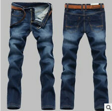 Fashion Luxury Mens New Washed Slim Fit Straight jeans Cuffed High Quality Jeans