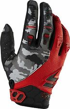 2015 SHIFT / Fox Adult Mens MX ATV Offroad Faction Camo Gloves Red