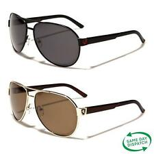 New Black Polarized Aviator Vintage Retro Mens Ladies Unisex Designer Sunglasses