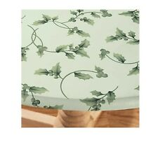 Hollyberries Elasticized Vinyl Table Cover, Festive Holiday Decoration For Table