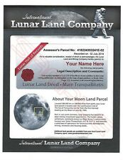 LUNAR LAND COMPANY - Buy A Lot On The Moon - For The Person That Has Everything