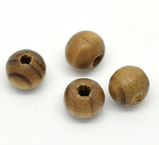 "Wholesale Lots Coffee Dyed Round Wood Spacer Beads 8mm( 3/8"")"