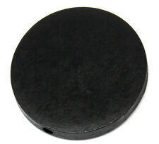 "Wholesale Lots Wood Spacer Beads Flat Round Black 30mm(1 1/8"") Dia"