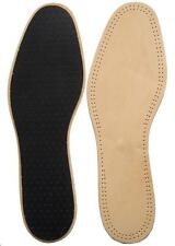 LEATHER INSOLE SHOE INSERTS MENS & LADIES SIZE 4 to 12 EU 37 - 46 INSOLES UNISEX