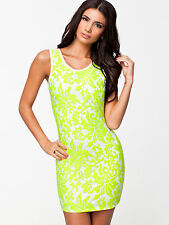 Ladies Bodycon Dress Sexy Party Short Celeb Tunic Dresses Size 8 10 12