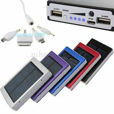 30000mAh Solar Panel Power Bank Dual USB External Battery Charger for iPhone HTC