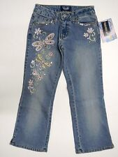 ANGELS Embellished Denim Capris Jeans Cropped Skimmer Jean Juniors Size 1 NWT