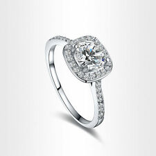 18k White Gold Plated FASHION Crystal Silver Wedding Engagement Women Ring New