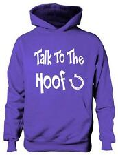 Talk To The Hoof Girls Horse Riding Hoodie Equestrian Pony Gift  Sizes 5 - 13 Ye