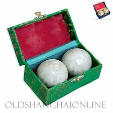 Baoding Balls Health Exercise Stress Relief Unpolished New With Defect (Stone)
