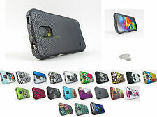 Samsung Galaxy S V 5 S5 Active G870 Design 2 Piece Hard Shell Case Cover+PryTool