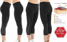 BRUBECK WOMEN FITNESS EXERCISE RUNNING THERMOACTIVE SEAMLESS 3/4 PANTS LEGGINS
