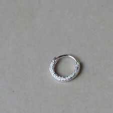 1 pc Lovely Patterned S925 Sterling Silver Hoop Ring Nose Ear Stud Piercing