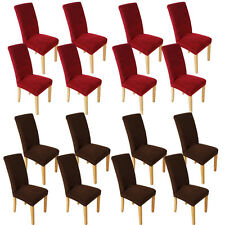 8PCS Stretch Dining Room Chair Covers Slip Cover Removable Seat Protector Hot