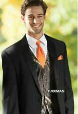 Camouflage Mossy Oak Camo Tuxedo Vest Orange Euro FREE Orange Hanke and Shipping