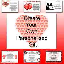 ♥ Personalised Poem ♥ To husband boyfriend him on anniversary - The perfect gift