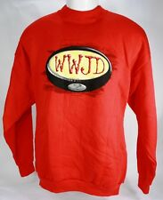 "Christian Sweatshirt ""WWJD"" What Would Jesus Do? Printed on Front & Back *NEW*"