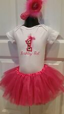 Baby Girl 1st Birthday Tutu Outfit Cake Smash Fits 12 - 18 Months Hot Pink