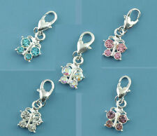 Wholesale Lots Mixed Butterfly Clip On Charm Fit Chain Bracelet