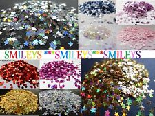 Nail Art Decoration Shapes Disc Dot Square Star Sequin 3mm 5mm Mylar Cracked Ice