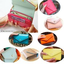 New Women's Fashion Leather Card Bag Purse Ladies Clutch Wallet Small Bag