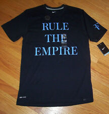 NIKE MENS ROGER FEDERER RULE THE EMPIRE TENNIS DRI FIT SHIRT - 627150 - L, XL