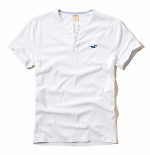 Hollister by Abercrombie Men River Jetties Seagull Henley T-shirt - Free $0 Ship