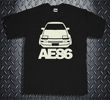 New Initial D Toyota Trueno AE86 Drift Racing Black T-shirt Tee