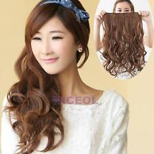 Fashion Girl Long Curly Wavy Hair Extension Clip In Hair Extensions 5 Clips NI5L