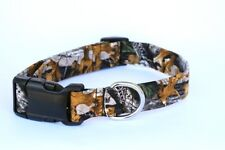 Advantage Timber Camo Camouflage Oak Leaves Adjustable Dog Collar HANDMADE