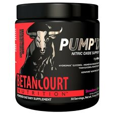 Betancourt PUMP'D Nitric Oxide Pre Workout CAFFEINE FREE Massive Pumps 30 Serves