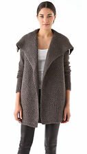 NWT VINCE Honeycomb Knit Jacket in Granite $395