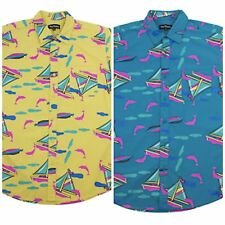EXCLUSIVE PINK DOLPHIN ALLOVER BOAT BUTTONUP SHIRT 100% AUTHENTIC!!!