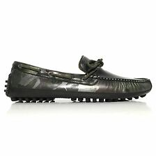 Cole Haan Grant Canoe Camp Moc Men's Leather Loafers Moccasins C12123 Black Camo
