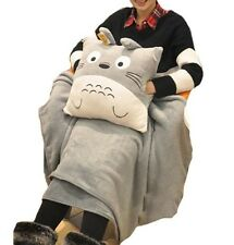 1 set Totoro pillow + blanket plush stuffed handwarmers gift for friends NEW