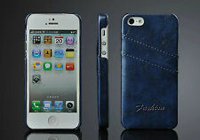 Ultra Thin Leather Back Cover Case with Card Holder iPhone 5 5s Case -  5 Colors