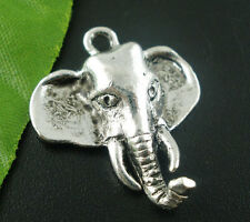 Wholesale DIY Jewelry Silver Tone Elephant Charms Pendants