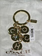 New Coach Key Chain Key Ring Key FOB Includes Dust Bag