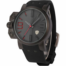 U.S.A SHARK Stainless Steel 3D Army Sport Rubber Quartz Mens Sport Watch