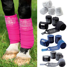 Diamante Fleece Polo Exercise Dressage Schooling Vet Horse Veterinary Bandage UK