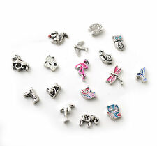 Silver Floating Charms - Living Memory Lockets - Pets and Animals