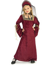 Child Medieval Lady of the Palace Girls Fancy Dress Book Week Costume