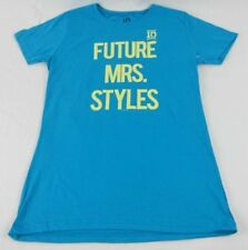 Juniors NEW Blue One Direction 1D Future Mrs. Styles Harry T-Shirt Sz XS S M XL
