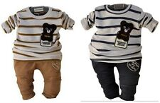 2PC baby outerwear+long  Pants set suit boys clothing bear  size:0-3years