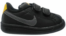 NEW TODDLERS INFANTS NIKE MAIN DRAW BABIES BLACK VELCRO TRAINERS SHOES BNIB