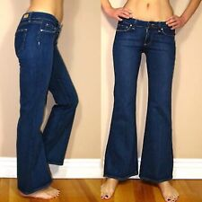 $179 Paige Petite Robertson Mid-Rise Wide Leg Flare Trouser Jeans Dark 24 25 New