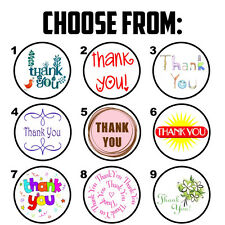 "63 Thank You Envelope Seals / Labels / Stickers - 1"" Round"