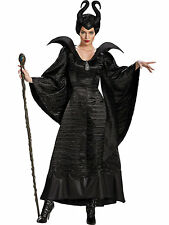 Maleficent Christening Black Gown Deluxe Costume for Adults