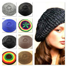 Ladies Girls Womans Beret Knitted Crochet Slouch Baggy Berets Beanie Hat Cap